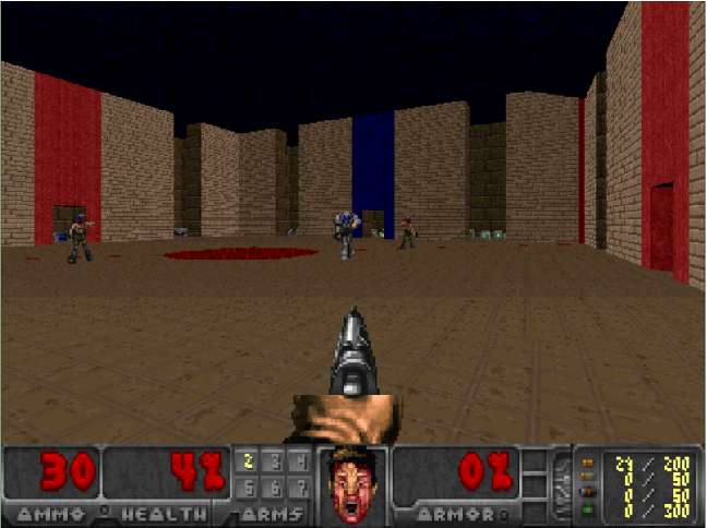 Figure 3 for Deep Reinforcement Learning From Raw Pixels in Doom