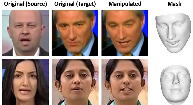 Figure 1 for FaceForensics: A Large-scale Video Dataset for Forgery Detection in Human Faces