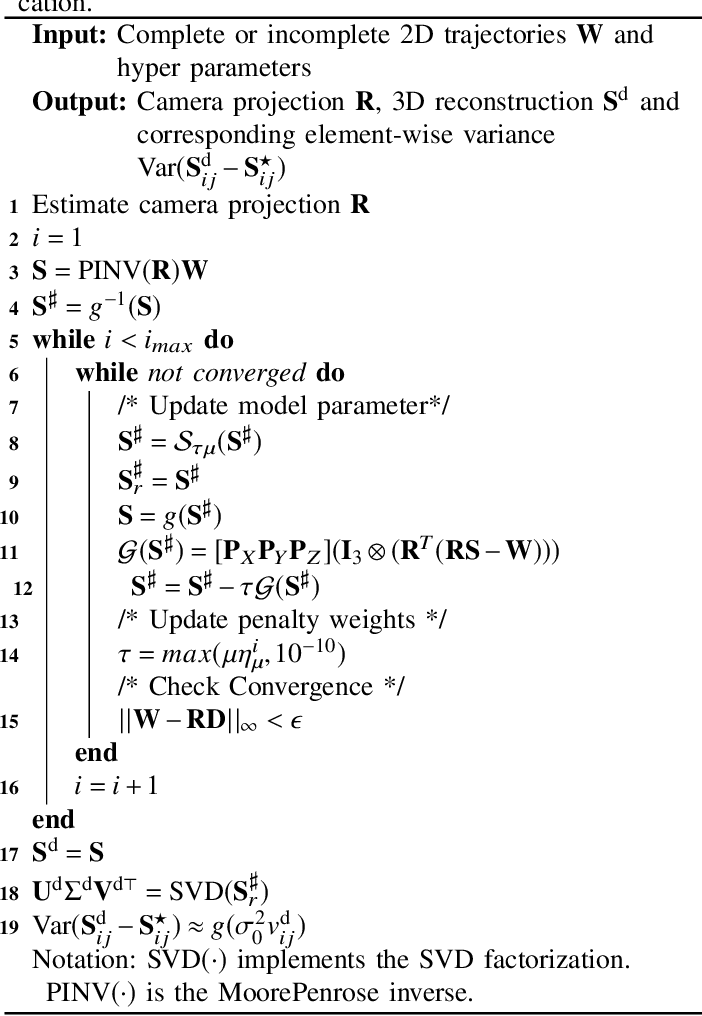 Figure 3 for A closed-form solution to estimate uncertainty in non-rigid structure from motion