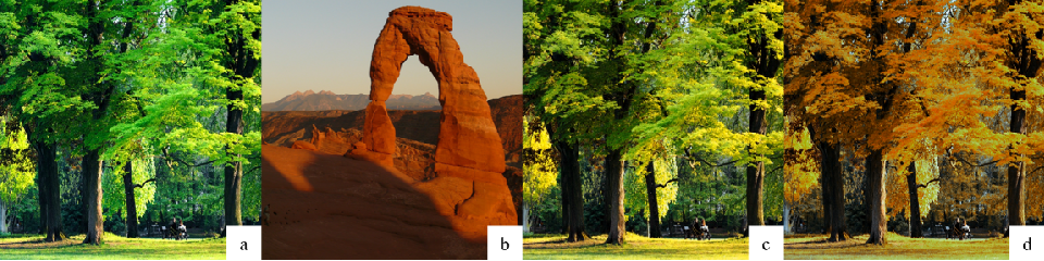Figure 4 for Filter Style Transfer between Photos