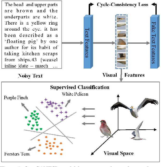 Figure 1 for CANZSL: Cycle-Consistent Adversarial Networks for Zero-Shot Learning from Natural Language