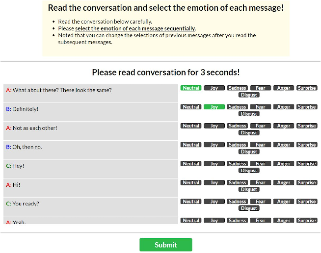 Figure 2 for EmotionLines: An Emotion Corpus of Multi-Party Conversations