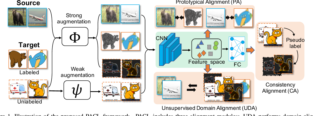 Figure 1 for Semi-Supervised Domain Adaptation with Prototypical Alignment and Consistency Learning
