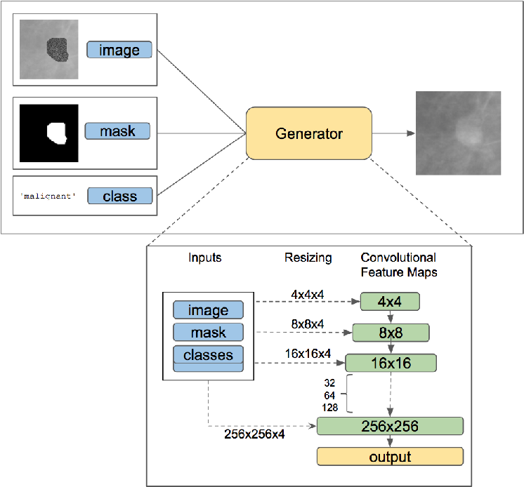 Figure 3 for Conditional Infilling GANs for Data Augmentation in Mammogram Classification