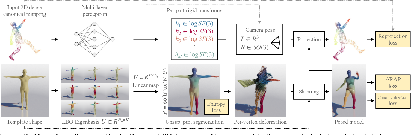 Figure 2 for DensePose 3D: Lifting Canonical Surface Maps of Articulated Objects to the Third Dimension