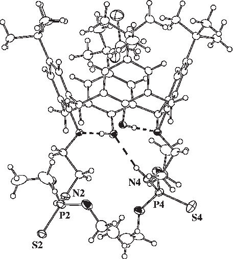 Figure 2. View of the molecular complex of 1 with dichloromethane.