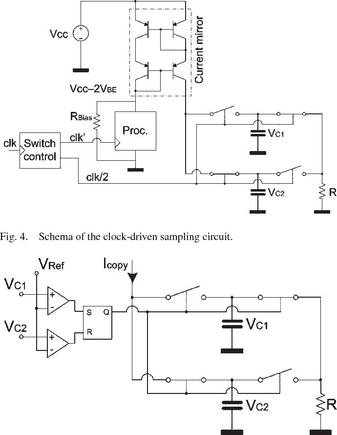 Fig. 4. Schema of the clock-driven sampling circuit.