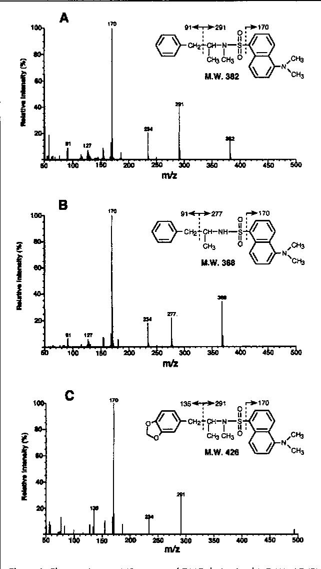 Figure 3 from Dansyl chloride derivatization of methamphetamine: a