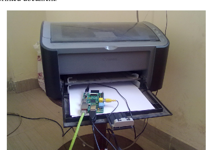 Bluetooth enabled printer adapter using raspberry pi