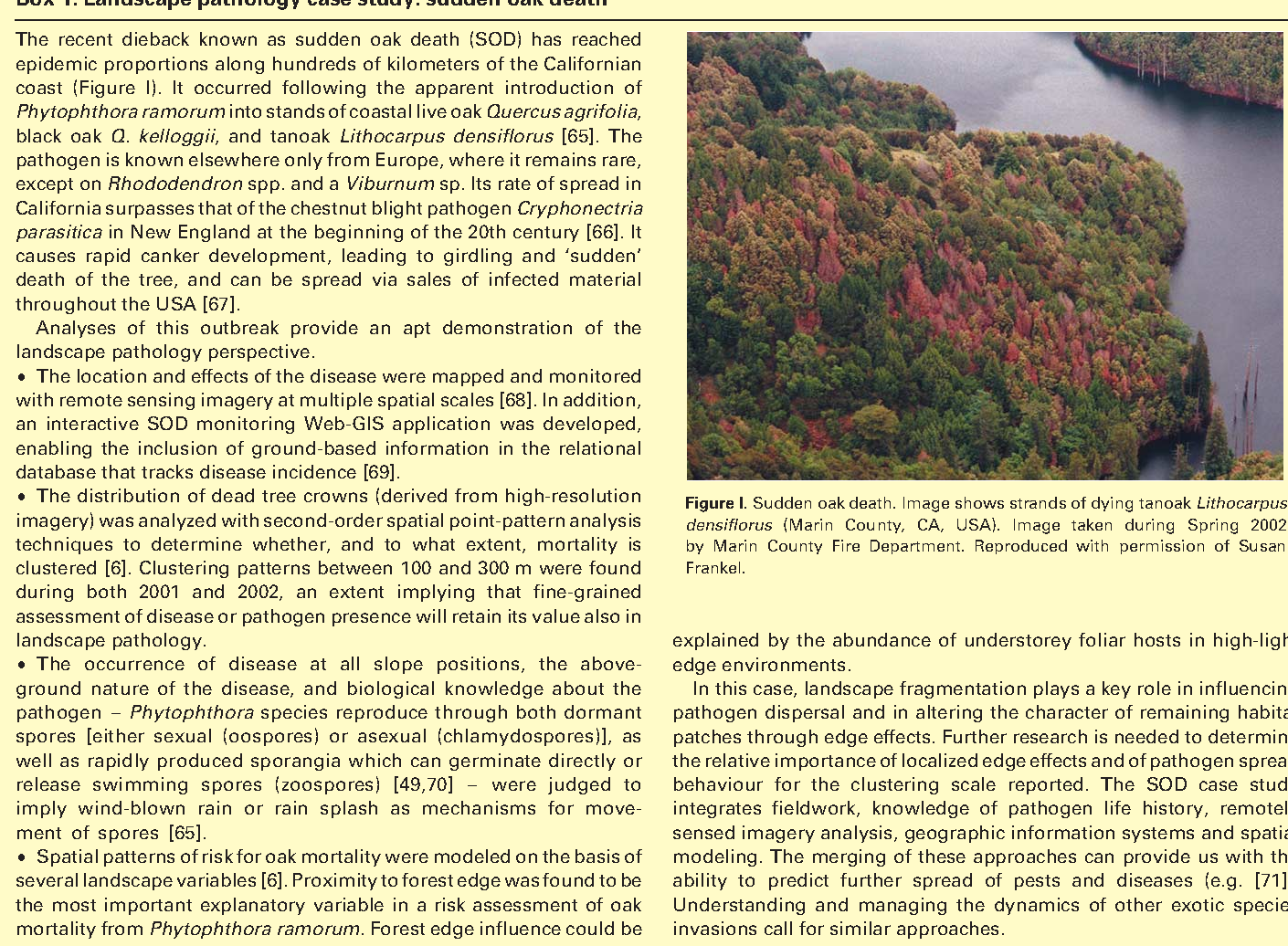 Figure I from Tree diseases and landscape processes: the