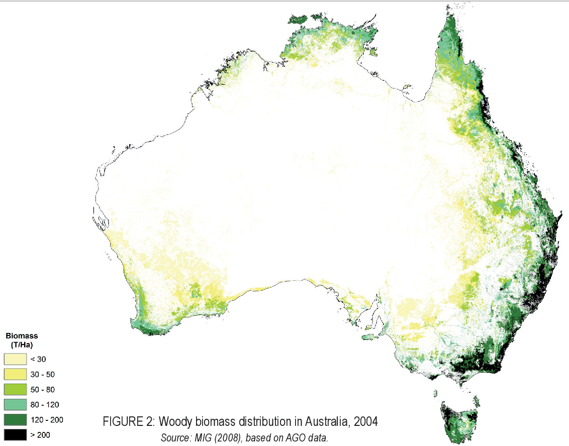 Australia Map Vegetation 200 Years Ago.Implications Of Climate Change For Forests Vegetation And Carbon In