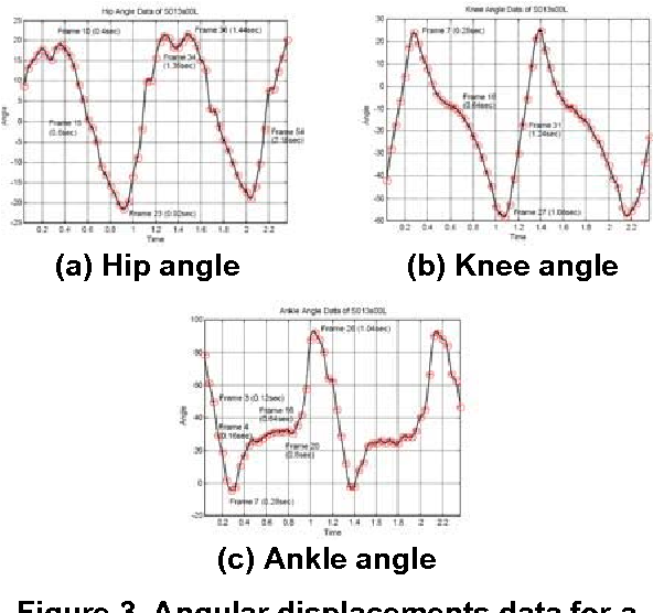 Figure 3. Angular displacements data for a subject.