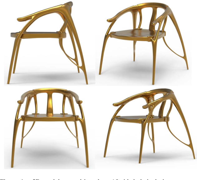 Figure 4 for A Generative Adversarial Network for AI-Aided Chair Design