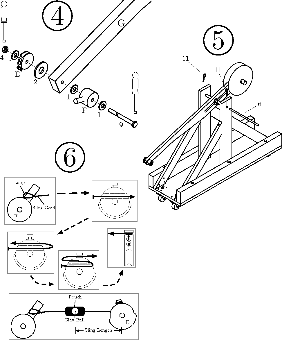 Figure 4 From Project Based Curriculum For Teaching Analytical The Following Diagram Illustrates Model Of Trebuchet To Use Design Freshman Engineering Students Via Reconfigurable Trebuchets Semantic Scholar