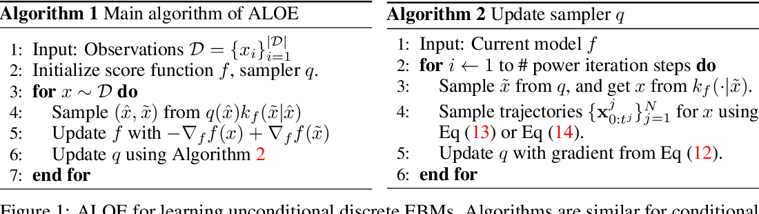 Figure 1 for Learning Discrete Energy-based Models via Auxiliary-variable Local Exploration