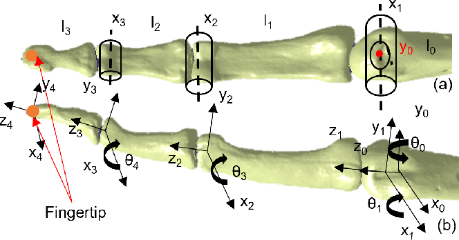 Figure 4 for A Novel Approach to Model the Kinematics of Human Fingers Based on an Elliptic Multi-Joint Configuration