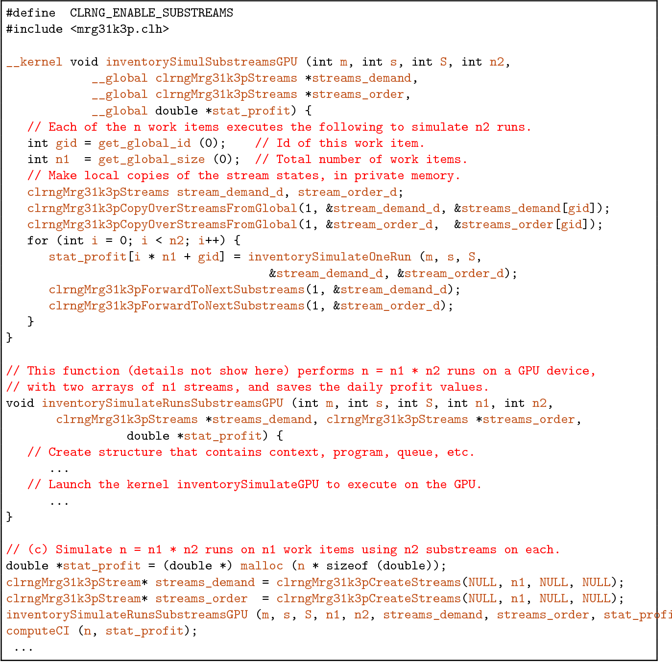 random number generator opencl