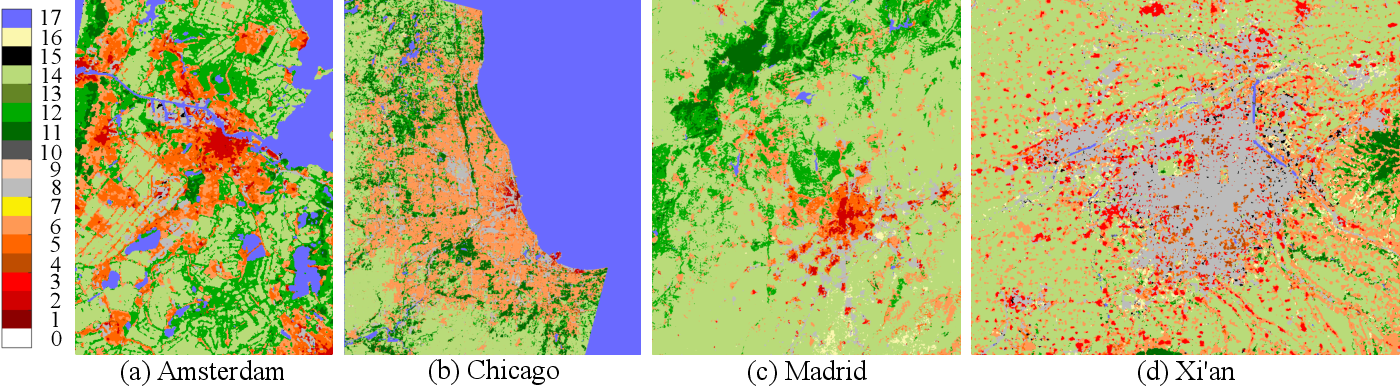 Figure 2 for Fusion of Heterogeneous Earth Observation Data for the Classification of Local Climate Zones