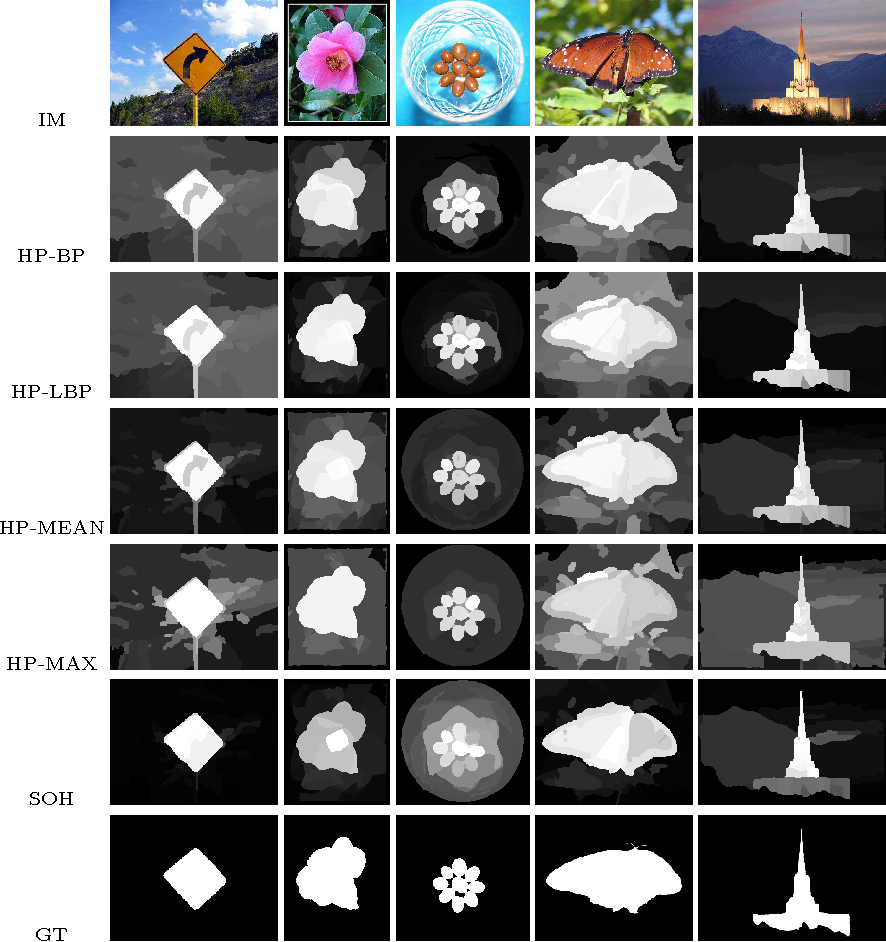 Figure 4 for Saliency maps on image hierarchies