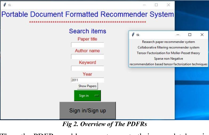 Hybrid tensorflow based portable document formatted recommender
