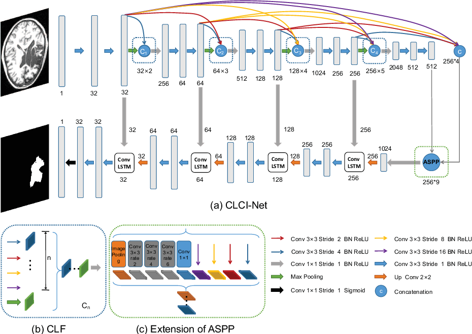 Figure 1 for CLCI-Net: Cross-Level fusion and Context Inference Networks for Lesion Segmentation of Chronic Stroke