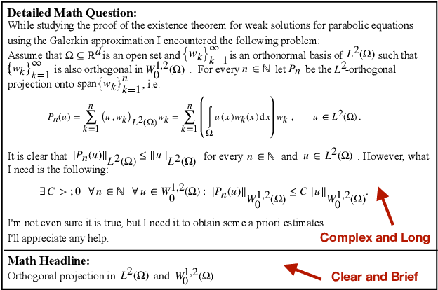 Figure 1 for Automatic Generation of Headlines for Online Math Questions