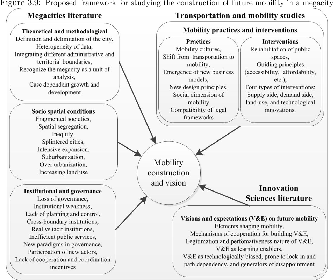 The construction of sustainable mobility in a megacity