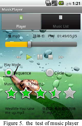Design and implementation of music player based on Android