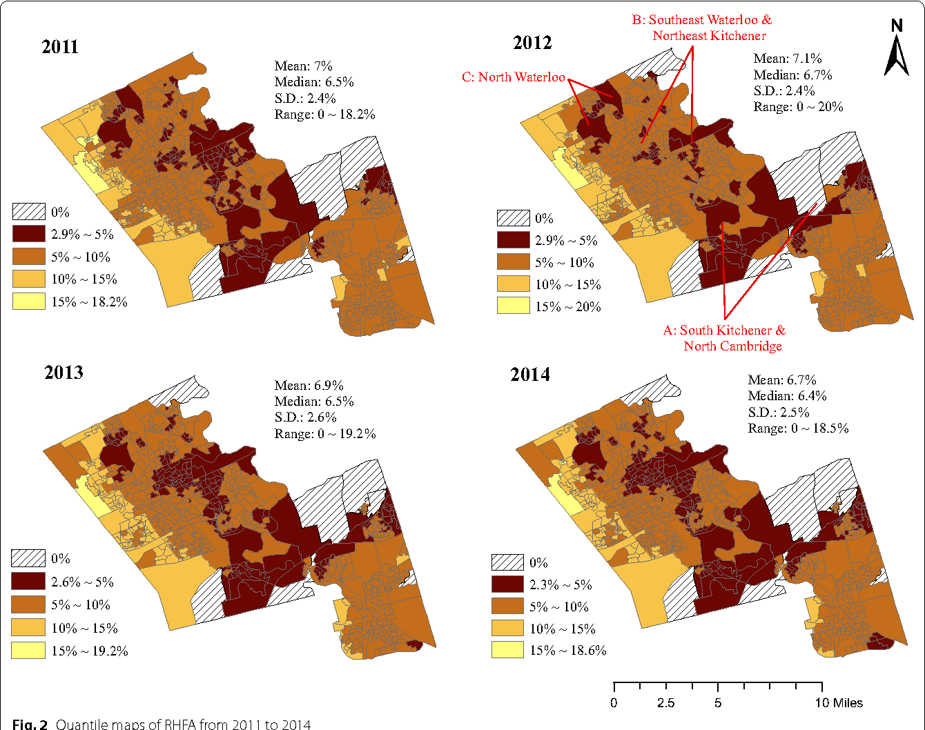 Identifying food deserts and swamps based on relative healthy food ...
