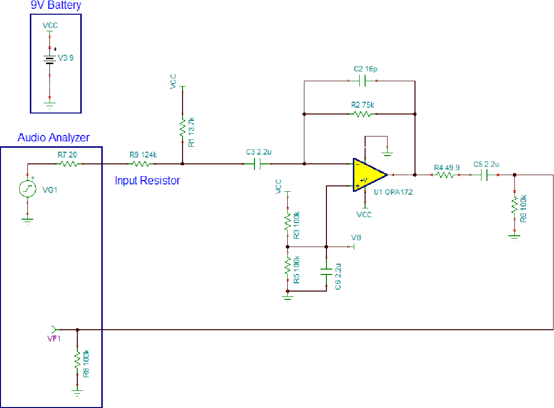 Single Supply Electret Microphone Pre Amplifier Reference Design Re Need A Simple Low Power Preamp Circuit For Figure 15 The Test Setup Used To Measure