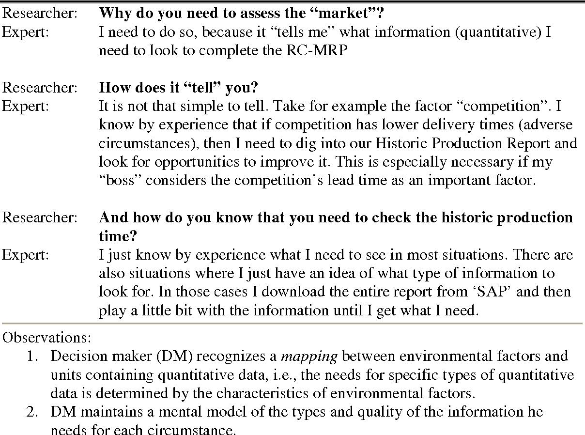 PDF] Integration of qualitative and quantitative data for decision
