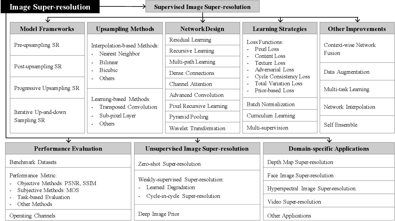 Figure 1 for Deep Learning for Image Super-resolution: A Survey