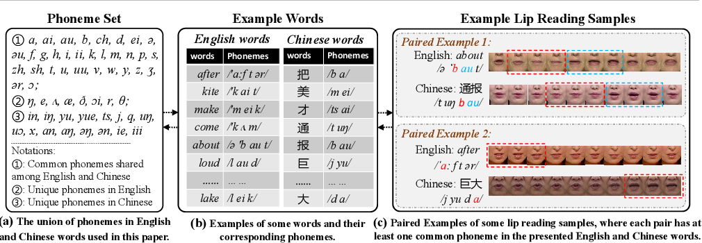 Figure 1 for Synchronous Bidirectional Learning for Multilingual Lip Reading