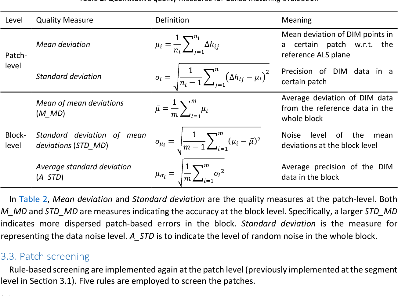 Figure 4 for Patch-based Evaluation of Dense Image Matching Quality