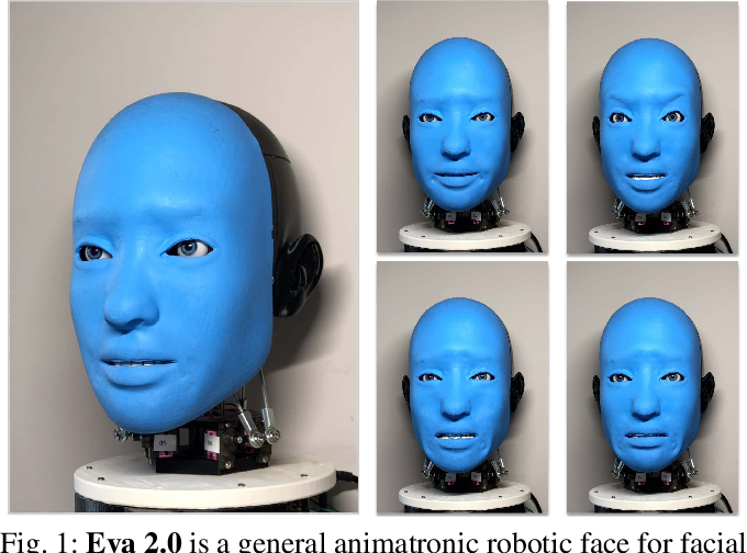 Figure 1 for Smile Like You Mean It: Driving Animatronic Robotic Face with Learned Models
