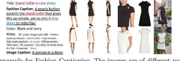 Figure 1 for Fashion Captioning: Towards Generating Accurate Descriptions with Semantic Rewards
