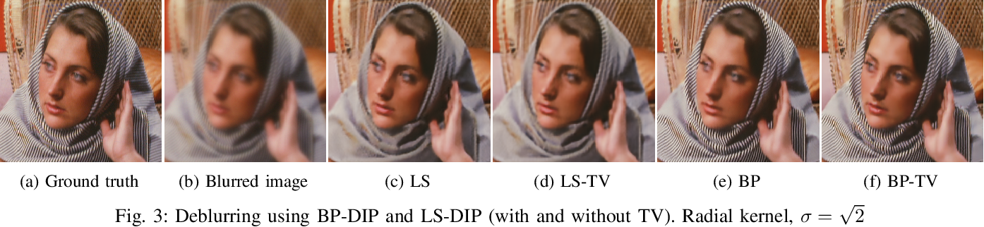 Figure 3 for BP-DIP: A Backprojection based Deep Image Prior