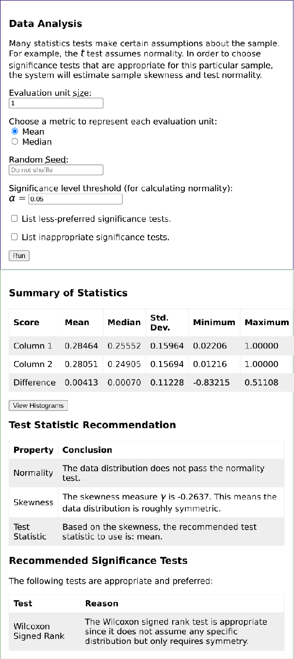 Figure 2 for NLPStatTest: A Toolkit for Comparing NLP System Performance