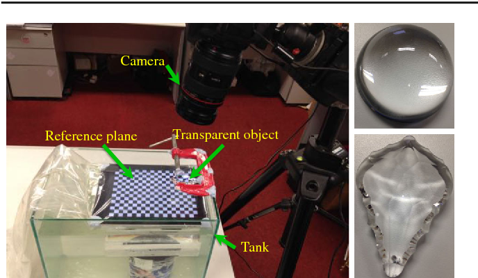 Figure 1 for Dense Reconstruction of Transparent Objects by Altering Incident Light Paths Through Refraction