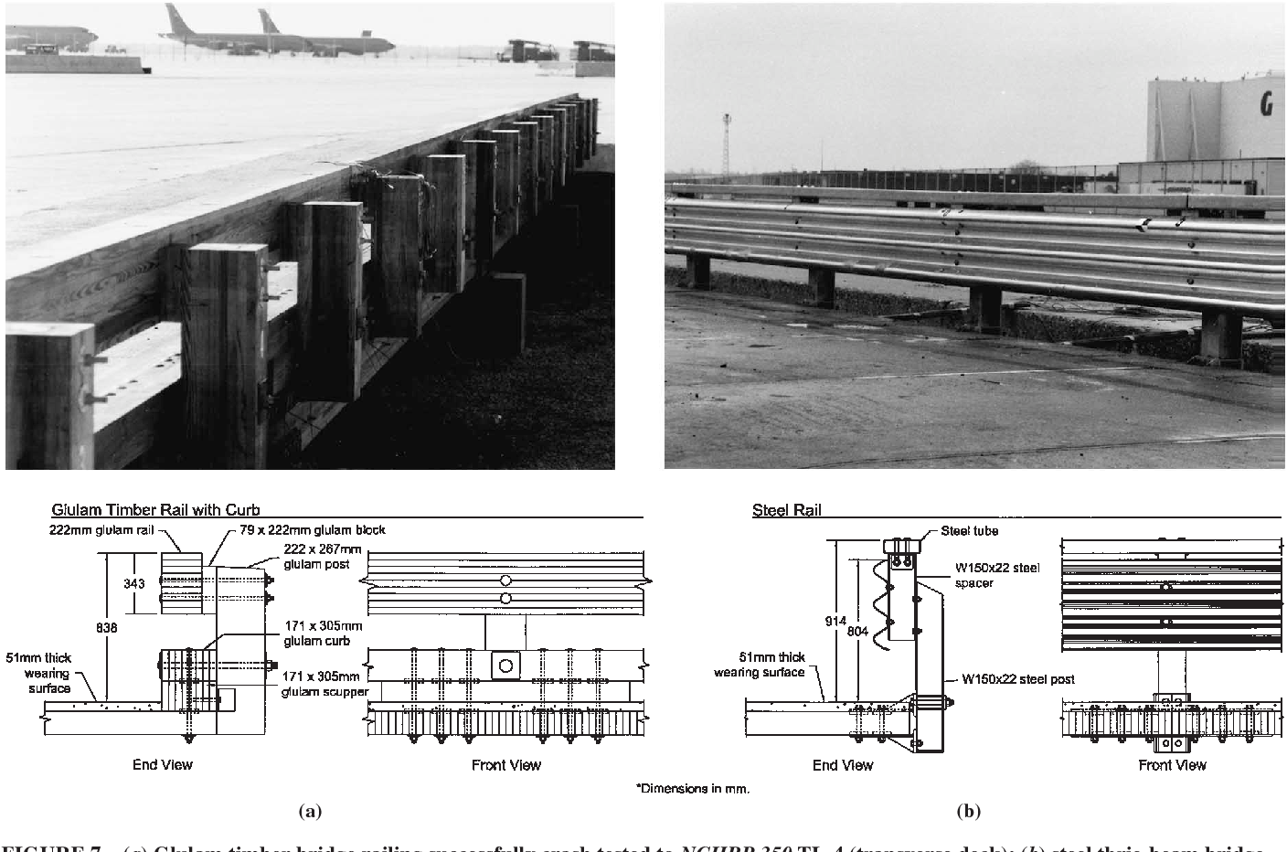 Figure 7 from Railing systems for use on timber deck bridges