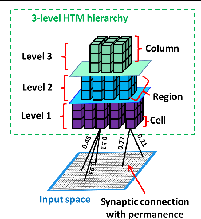 Figure 1 for Feature extraction without learning in an analog Spatial Pooler memristive-CMOS circuit design of Hierarchical Temporal Memory