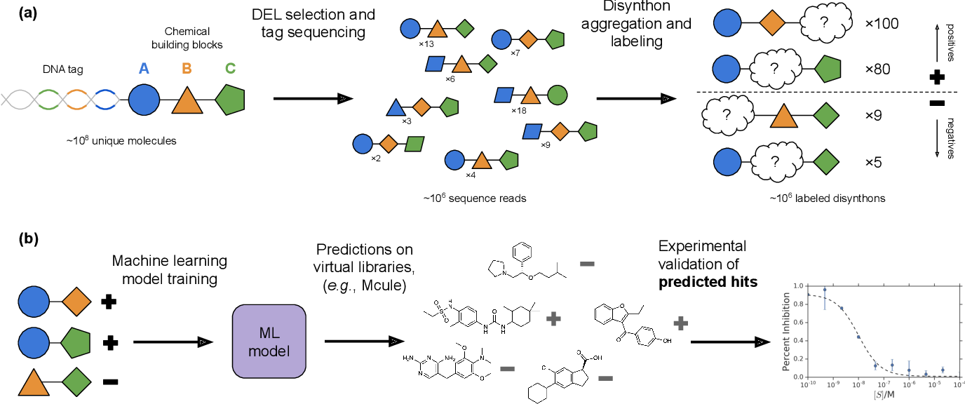 Figure 1 for Machine learning on DNA-encoded libraries: A new paradigm for hit-finding