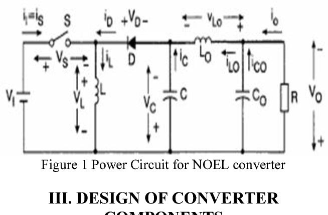 Figure 1 Power Circuit for NOEL converter