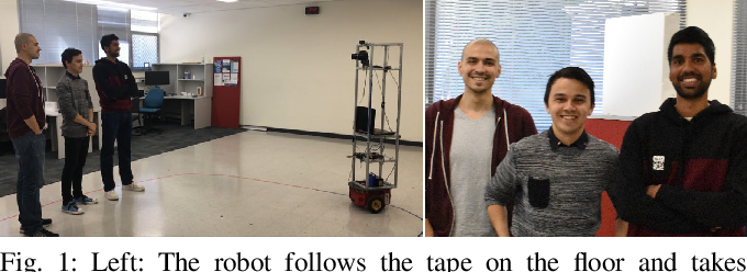 Figure 1 for Learning to Take Good Pictures of People with a Robot Photographer