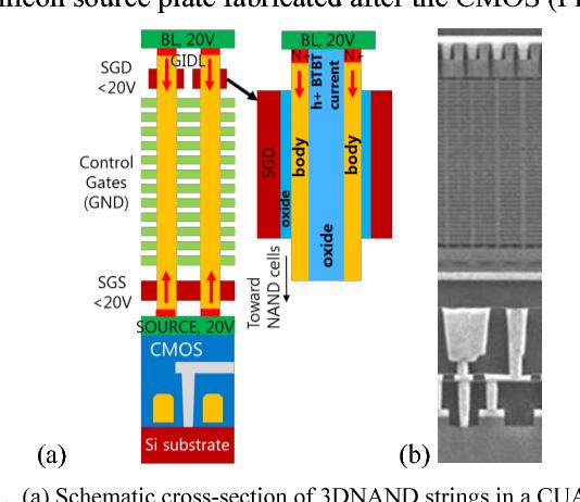 3dnand Gidl Assisted Body Biasing For Erase Enabling Cmos Under
