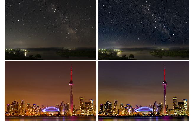 Figure 1 for Light Pollution Reduction in Nighttime Photography