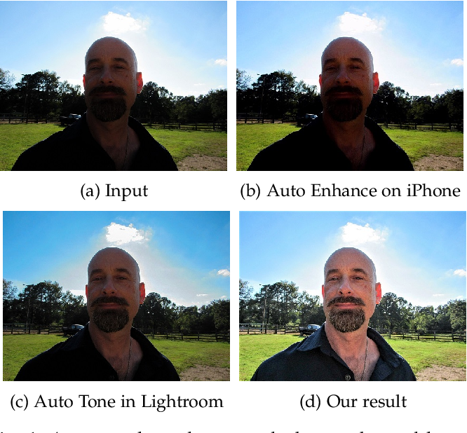 Figure 1 for Enhancing Underexposed Photos using Perceptually Bidirectional Similarity