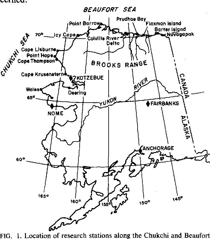 Point Thompson Alaska Map.Shoreline Vegetation Of The Arctic Alaska Coast Semantic Scholar