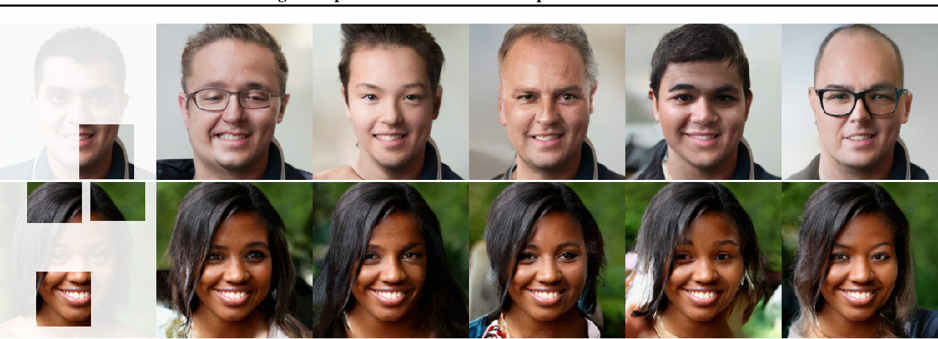 Figure 1 for Image Completion via Inference in Deep Generative Models