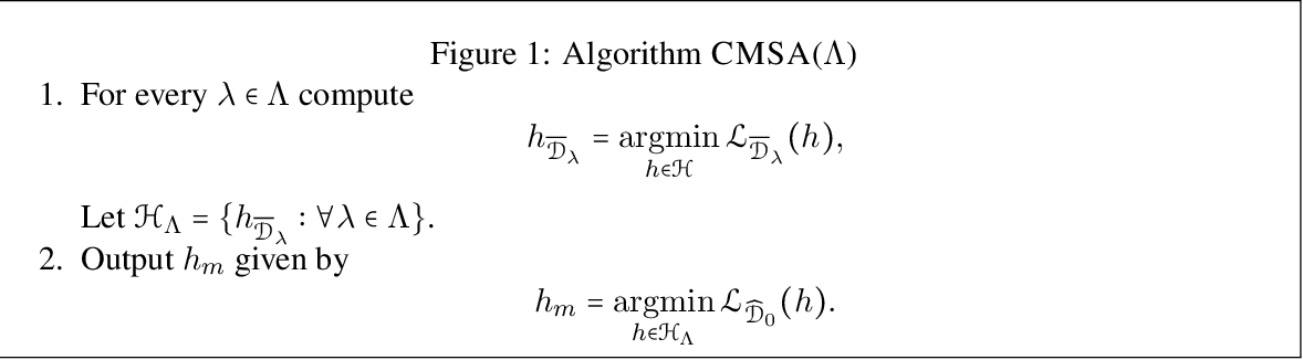 Figure 1 for A Theory of Multiple-Source Adaptation with Limited Target Labeled Data